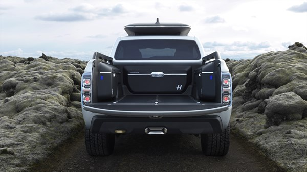 Renault ALASKAN Concept - Rear view, tipper raised