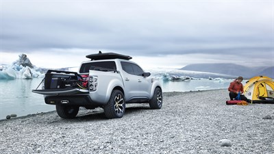 Renault ALASKAN Concept - Explorer of the Far North pitching their tent
