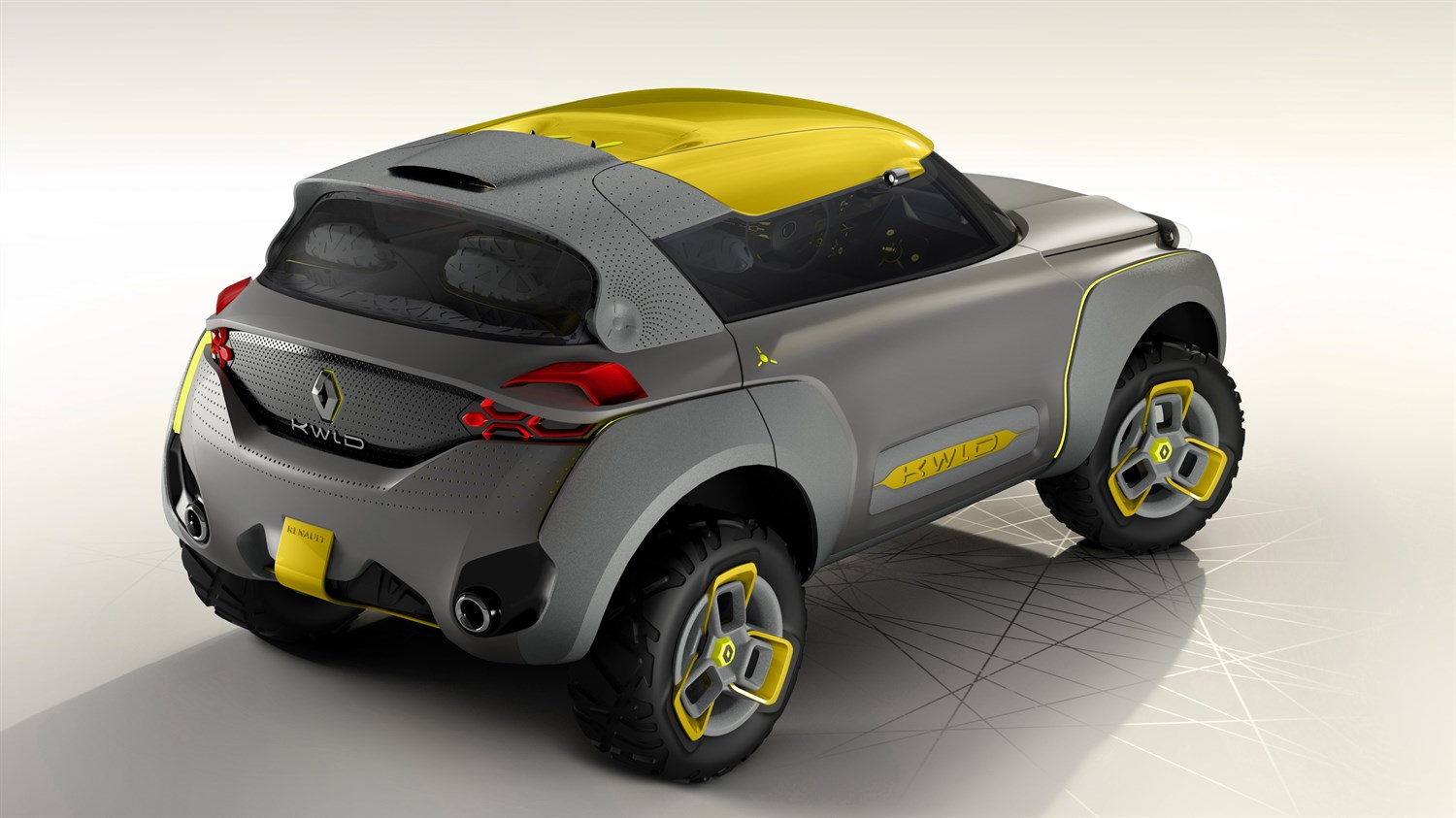 Renault KWID Concept - 3/4 rear view of vehicle