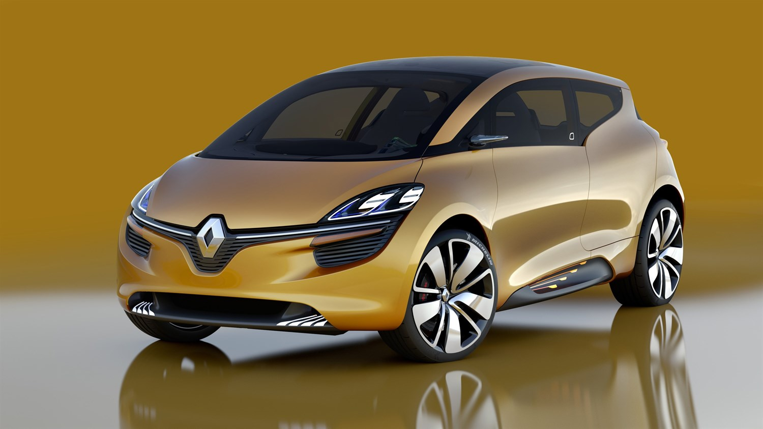 Renault R-SPACE Concept - 3/4 front view on yellow background