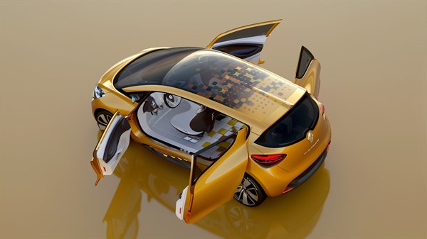 Renault R-SPACE Concept - view from above - side doors open